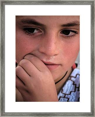 Afghan Child Framed Print