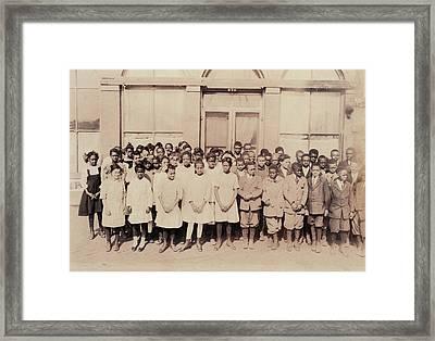 African American High School, Original Framed Print by Everett
