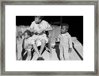 African American Sharecroppers, Titled Framed Print by Everett