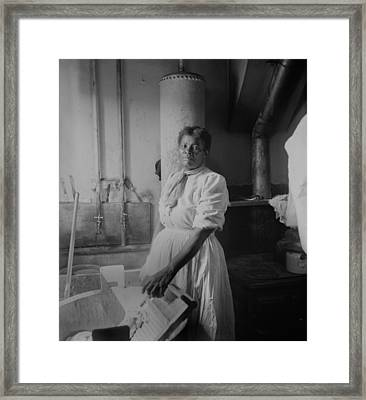 African American Woman Standing Framed Print by Everett