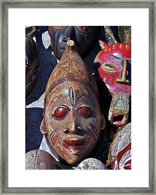 Framed Print featuring the photograph African Mask by Werner Lehmann