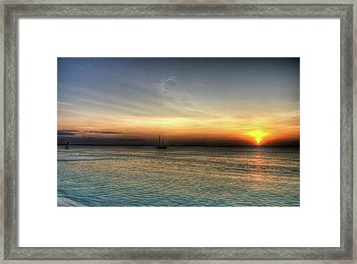 African Sunset Framed Print by Andrea Barbieri