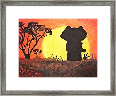 African Sunset Framed Print by Hannah Stedman