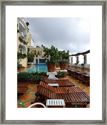 After The Rain. Positano  2 Framed Print by Tanya  Searcy