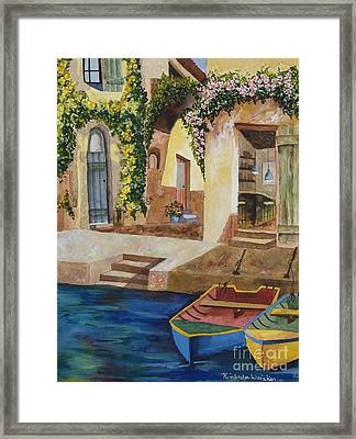 Afternoon At The Piazzo Framed Print