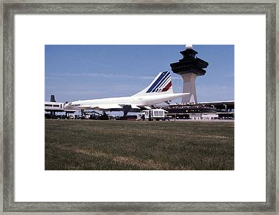 Air France Concorde Framed Print by Jan W Faul