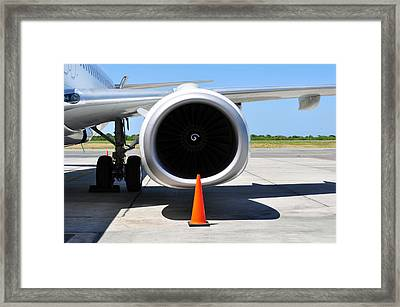 Air Transportation. Jet Engine Detail. Framed Print by Fernando Barozza