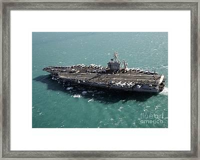 Aircraft Carrier Uss Dwight D Framed Print