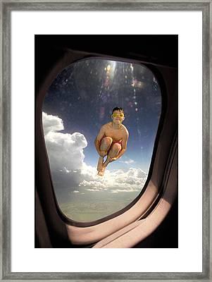 Aircraft Window Framed Print