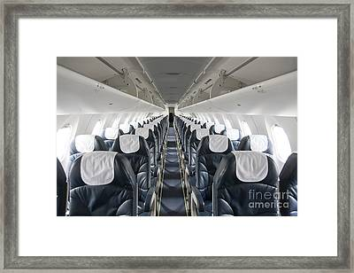 Airplane Seating Framed Print