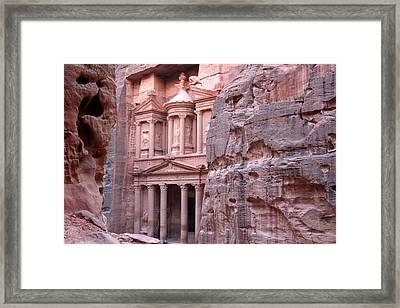 Al Khazneh (the Treasury), Petra, Jordan Framed Print