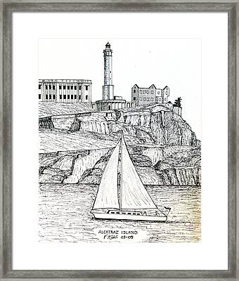Alcatraz Island Framed Print by Frederic Kohli