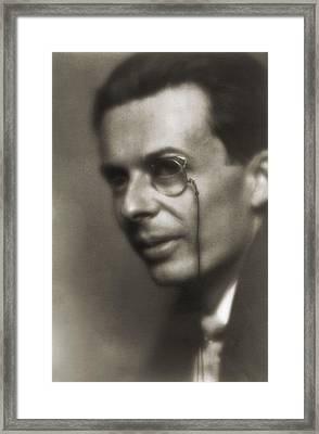 Aldous Huxley 1894-1963, English Author Framed Print by Everett
