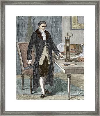Alessandro Volta, Italian Physicist Framed Print by Sheila Terry