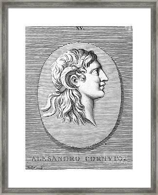 Alexander The Great (356-323 B.c.) Framed Print by Granger