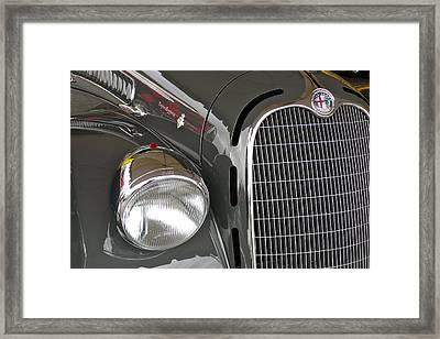 Framed Print featuring the photograph Alfa Romeo by Anna Ruzsan
