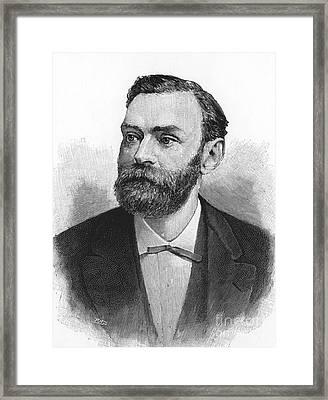 Alfred Nobel, Swedish Chemist Framed Print by Science Source