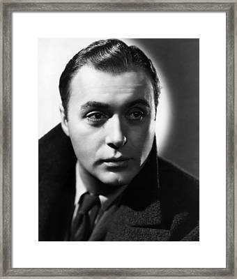 Algiers, Charles Boyer, 1938 Framed Print by Everett