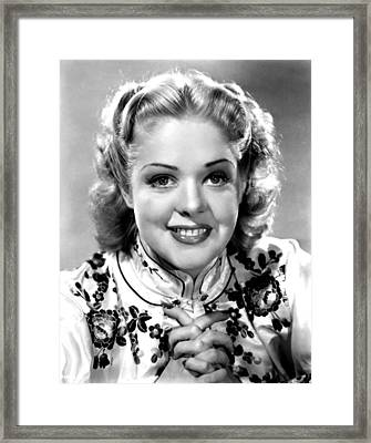 Alice Faye, Ca. Late 1930s Framed Print by Everett