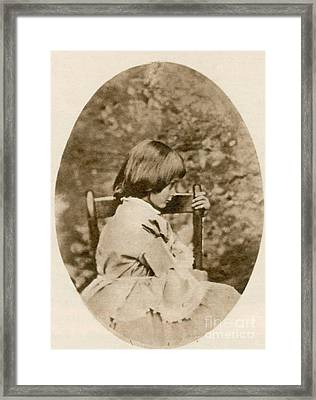 Alice Liddell, Alices Adventures Framed Print