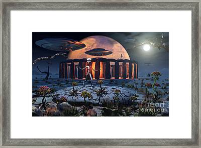Alien Explorers On An Alien World Framed Print