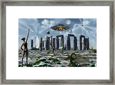 Alien Interdimensional Beings Recharge Framed Print