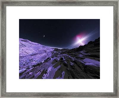 Alien Lanscape, Artwork Framed Print