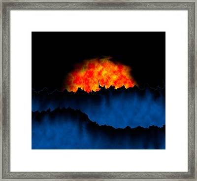 Alien Sunset Framed Print