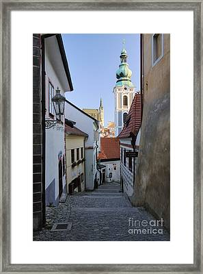 Alleyway Through An Old City Framed Print by Jeremy Woodhouse