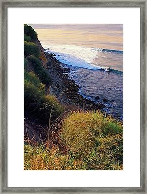 Alone In The Cove Framed Print
