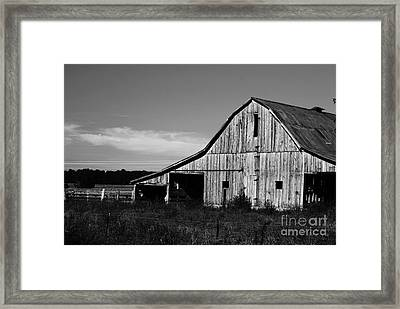 Along The Rural Road Framed Print by Julie Clements