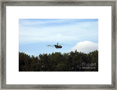 Alouette II Of The Belgian Army Framed Print