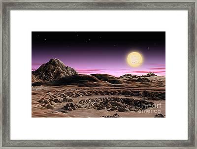 Alpha Centauri System Framed Print by Lynette Cook