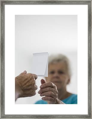 Alzheimer's Disease, Conceptual Image Framed Print by Cristina Pedrazzini