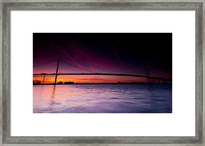 Ambassador Bridge Framed Print