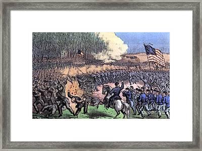 American Civil War, Battle Framed Print