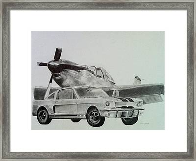 American Mustangs Framed Print