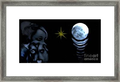 Framed Print featuring the mixed media Amour Chiot by Ayasha Loya