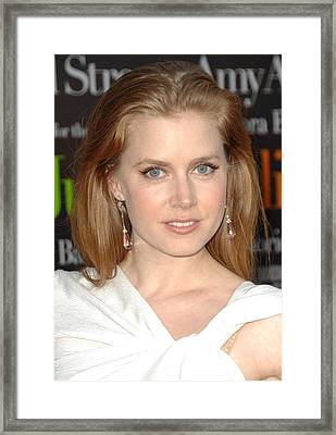 Amy Adams At Arrivals For Julie & Julia Framed Print