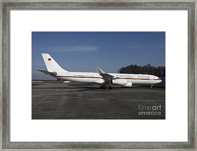 An Airbus 340 Acting As Air Force One Framed Print by Timm Ziegenthaler