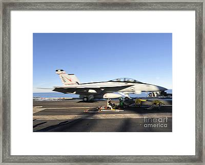 An Fa-18f Super Hornet Launches Framed Print by Stocktrek Images