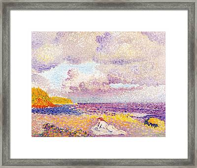 An Incoming Storm Framed Print
