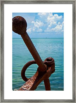 Anchor Framed Print by Mike Horvath