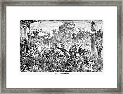 Ancient Olympic Games Framed Print by Granger