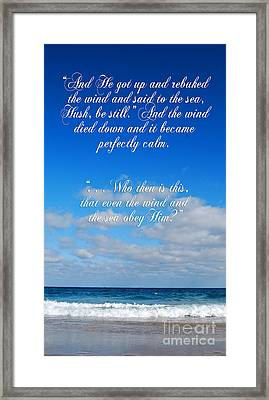 And It Became Perfectly Still Framed Print by Linda Mesibov