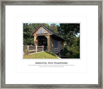 Andover Nh Historical Bridge Framed Print by Jim McDonald Photography