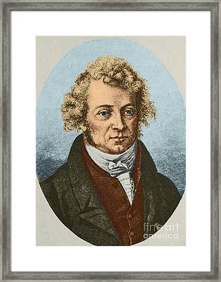 Andre Marie Amp�re, French Physicist Framed Print by Science Source