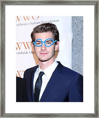 Andrew Garfield At Arrivals For The Framed Print