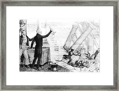 Andrew Jackson Cartoon Framed Print by Granger