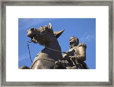 Andrew Jackson Statue Framed Print by Mike McGlothlen